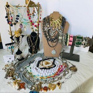 MYSTERY JEWELRY LOT Necklaces Earrings Bracelets